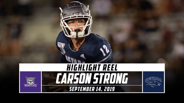 Carson Strong Highlights: Weber State vs. Nevada (2019)
