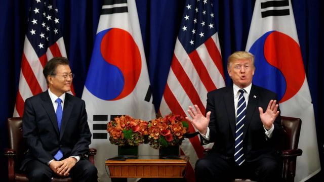 Trump jokes about 'deplorable' while meeting South Korea's president