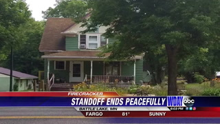 Police standoff in Battle Lake called off after reports of shot fired, turned out to be a firecracker