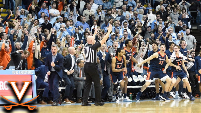 Virginia's Tomas Woldetensae's3-Pointer Gives The Cavaliers the Win over UNC