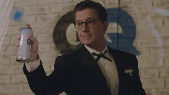 Stephen Colbert Makes a Mess at His GQ Shoot