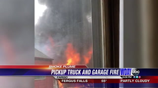 Cause determined in south Fargo fire that burned garage, damaged vehicles