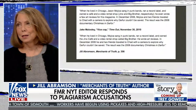 Jill Abramson stands by new book amidst plagiarism charges