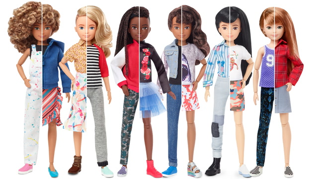 Mattel debuts gender-neutral dolls, joining the ever-evolving Barbie