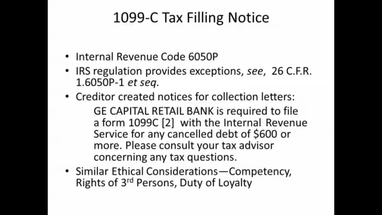1099 c tax filing notice video lorman education services related training falaconquin