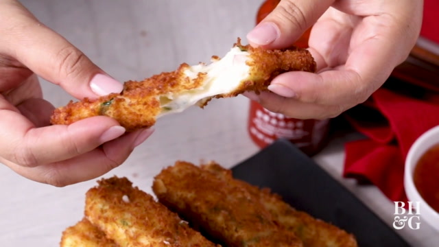 Crab Rangoon Mozzarella Sticks