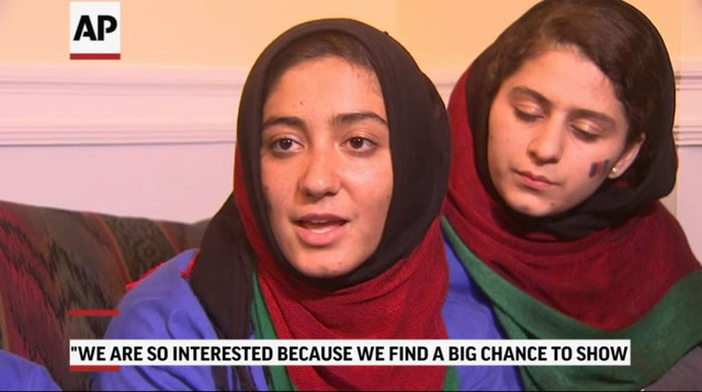Afghan Girls Eager To Start Robotics Competition