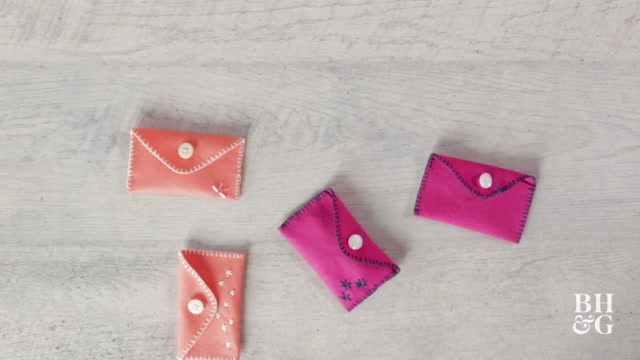 Easy Hand-Stitched Felt Pouch