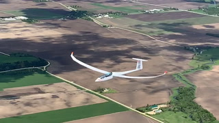 National Championship Glider Plane in Flight