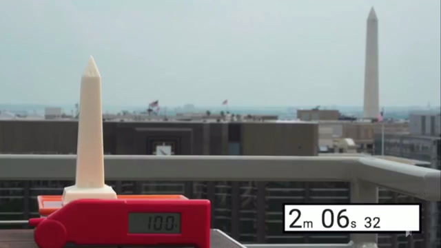 It's so hot in DC, this chocolate Washington Monument just melted away