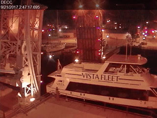 Surveillance video of Vista Queen being released into Superior Bay