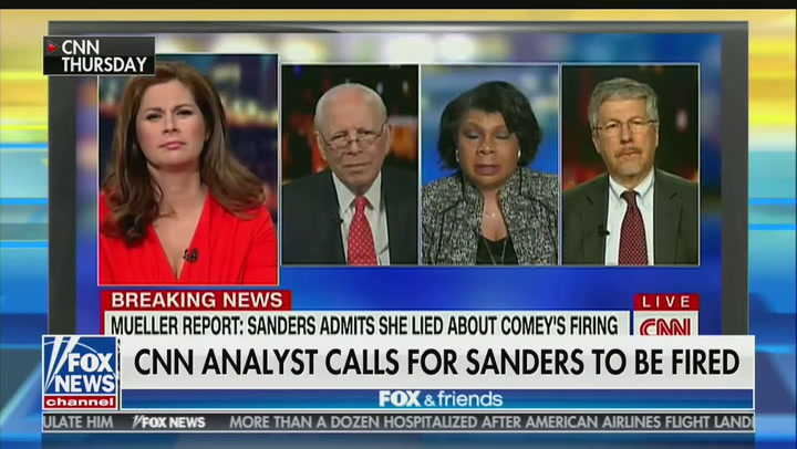 Sarah Huckabee Sanders Lies to 'Fox & Friends': April Ryan Literally Wants Me 'Decapitated'