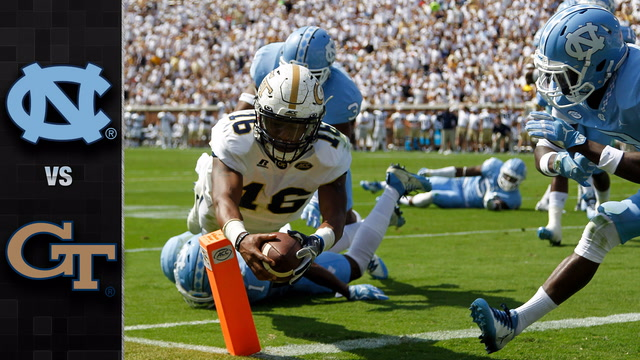 North Carolina vs. Georgia Tech Football Highlights (2017)
