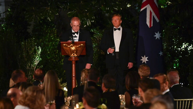Morrison's state dinner toast: 'To 100 years of mate-ship'