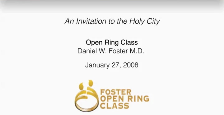 An Invitation to the Holy City