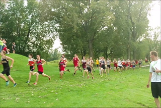 Top finishers at boys cross country opener