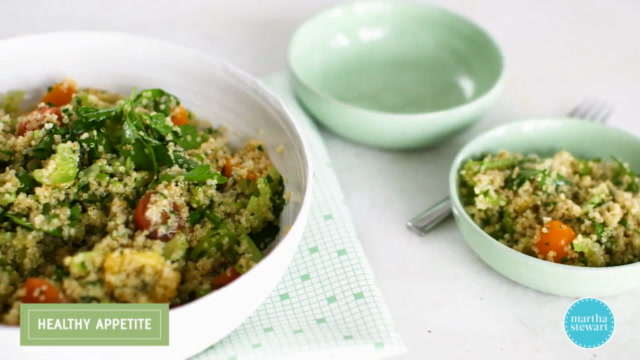 Whole Grain Salad with Chopped Parsley