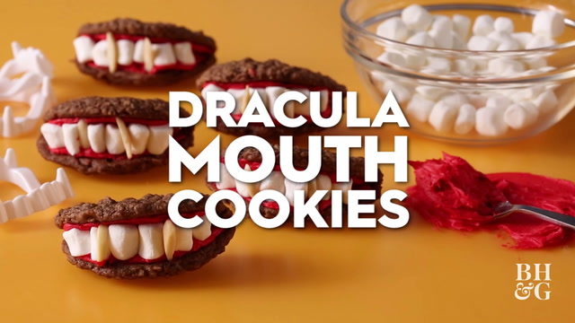 Dracula Mouth Cookies