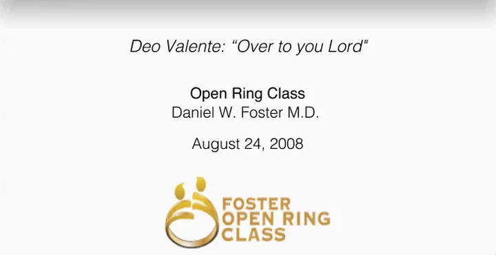 "Deo Valente: ""Over to you Lord"""
