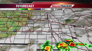 Tuesday: Rain Moving Out, Skies Clearing