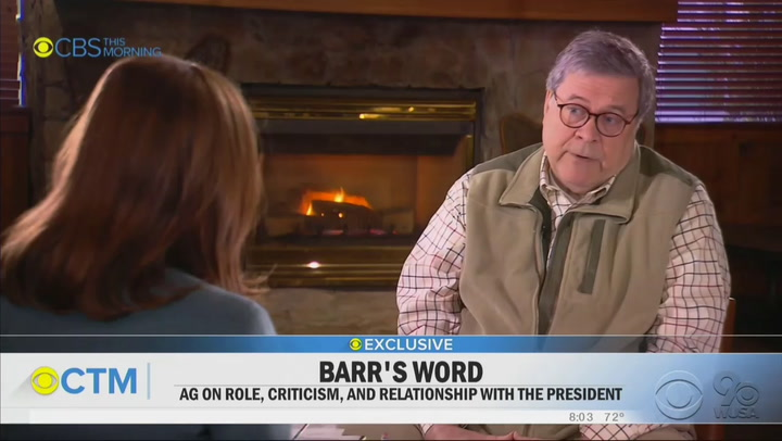 """""""Everyone dies"""": Bill Barr discusses his post-Mueller reputation in a polarized world"""