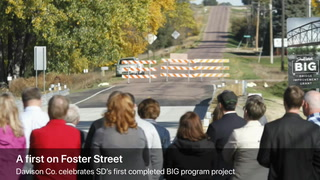Foster Street bridge ribbon-cutting
