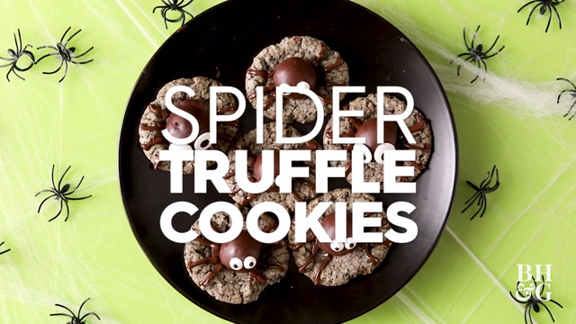 Spider Truffle Cookies