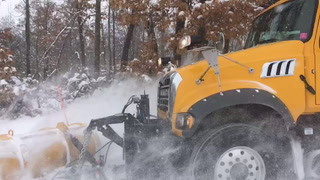 Pequot Lakes maintenance worker Lance Ray drives the city's newest plow truck on Olson Road on Thursday, Feb. 7. Nancy Vogt / Echo Journal