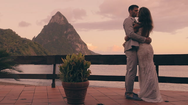 Brittney + Josh | Soufriere, Saint Lucia | Hummingbird Beach Resort