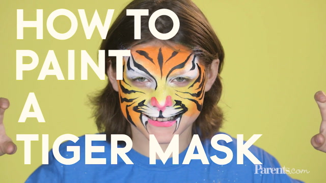 How to Paint a Tiger Mask