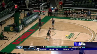 Omaha edges NDSU women in final seconds