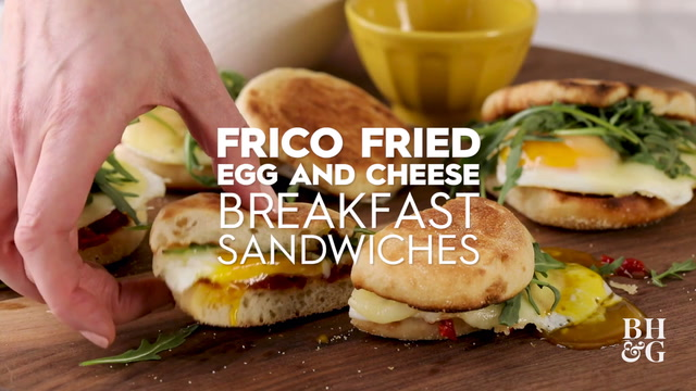Frico Fried Egg and Cheese Breakfast Sandwiches
