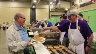 30 seconds with Duluth Lions Club Pancake Day flapjack flippers