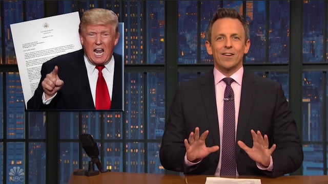 Late-night hosts react to Trump's 'deranged' letter to Pelosi