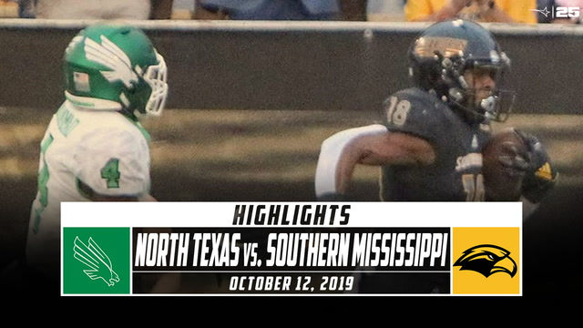 North Texas vs. Southern Mississippi Football Highlights (2019)