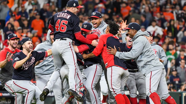 'Right now we're living the dream:' Behind the scenes in the Nationals clubhouse after their win