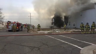 Structure fire in Crosby, MN