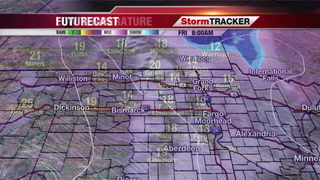 Breezy Finish to the Day - Light Snow in Northern Minnesota