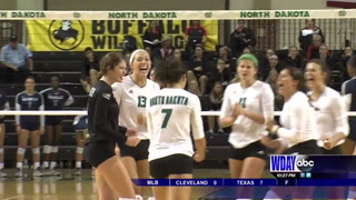 Ole Miss wins 5 set thriller over UND