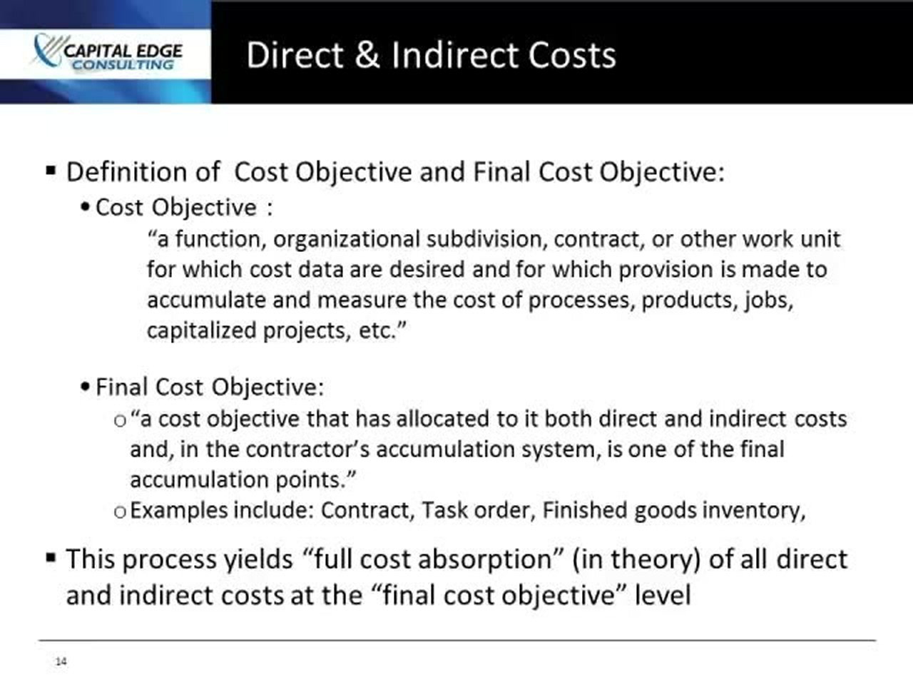 Direct Indirect Costs Video Lorman Education Services