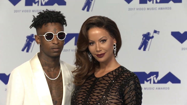 VMAs 2017: Amber Rose Slayed in a Long Wig and Nearly-Naked Dress