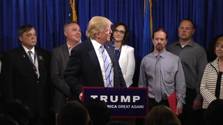 Kevin Cramer joins Trump at the podium