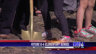 Groundbreaking at future K-4 elementary school in Moorhead
