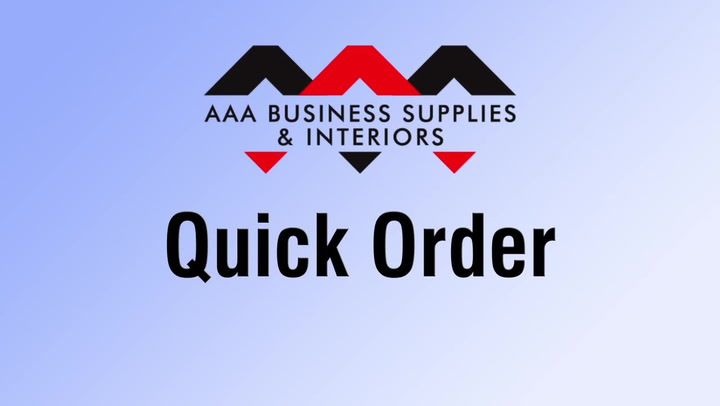 Quick Order at shop.AAAsolutions.com