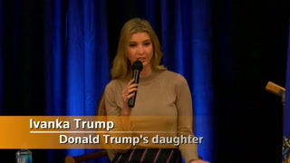 Ivanka Trump speaks at event