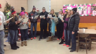 """Members of the Osakis High School Choir volunteered to add their voices to Saturday's """"Christmas in Osakis"""" event. They sang at the Osakis Community Center and dowtown. (Al Edenloff   Osakis Review)"""