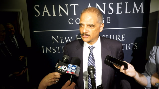 Holder on 2020 run against Trump: 'two guys from Queens would be interesting'