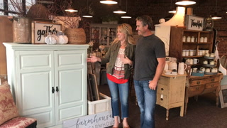 Matthew and Audra Mehl discovered their shared love of repurposing while transforming a rental property. Photo courtesy of Paul Flessland / Special to Forum News Service