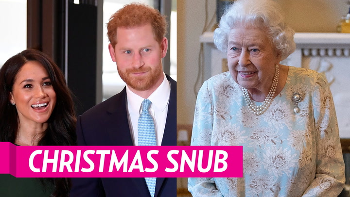 Queen Elizabeth II Is 'Disappointed' Prince Harry and Duchess Meghan Won't Attend Christmas Festivities