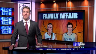 A family affair: The Henningsgard sisters face off for the first time